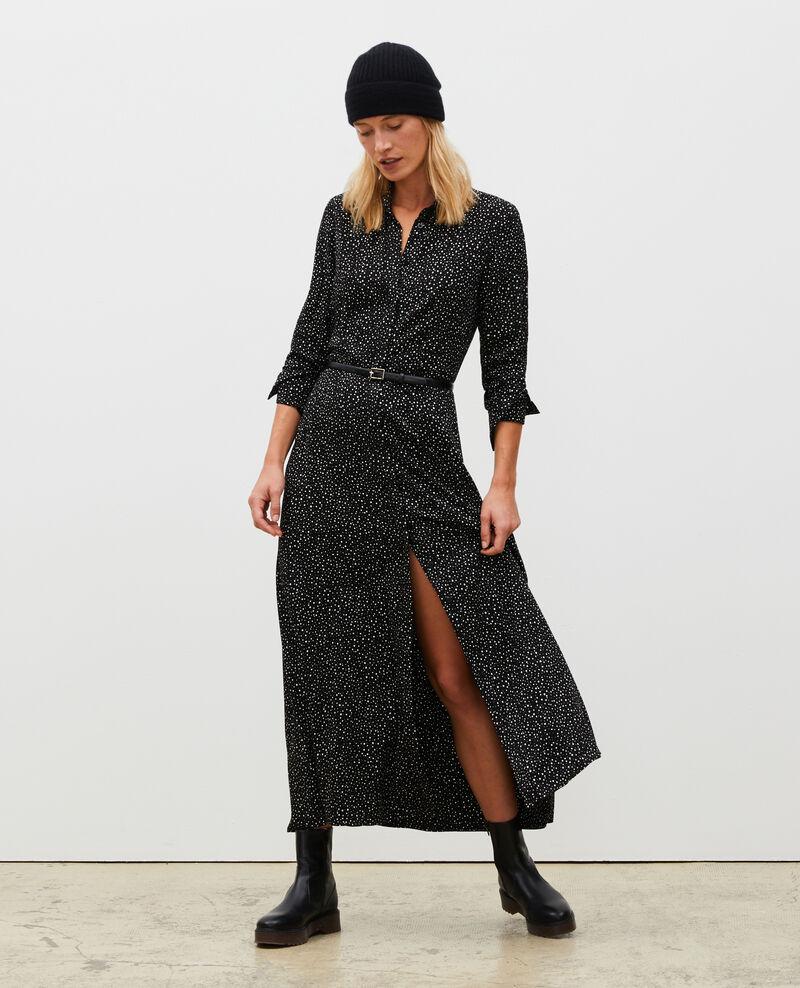 Maxi robe longue imprimée Print constellation black Meursac