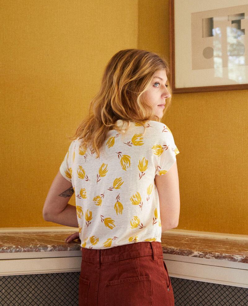 T-shirt col bateau en lin  Tulip buttercream Jafleural