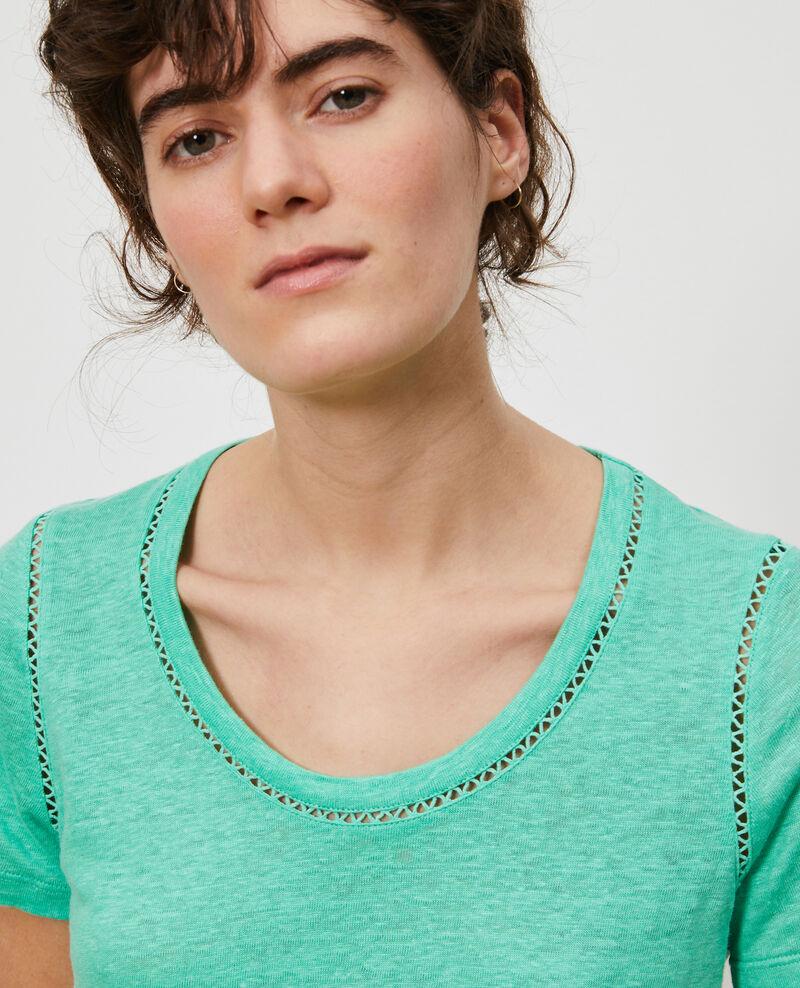 T-shirt en lin Jade cream Lye