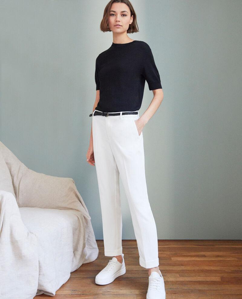 Pantalon coupe carotte Off white Iouioui