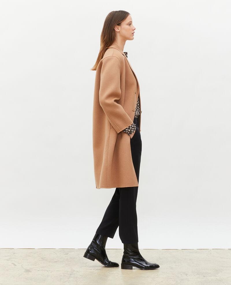 Manteau en laine Latte Maclas