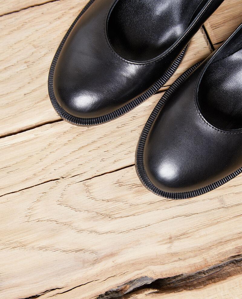 Escarpins en cuir Noir Idoc