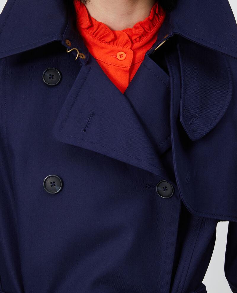 CATHERINE - Trench iconique en coton Maritime blue Lambert