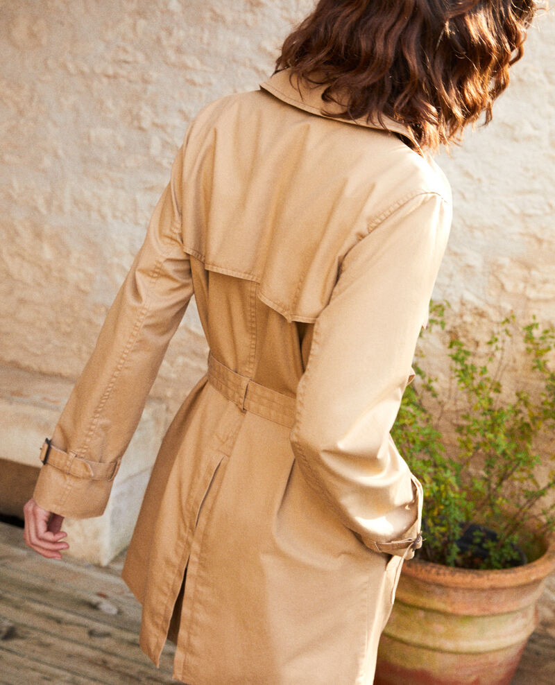 Trench intemporel court Safari beige Isore