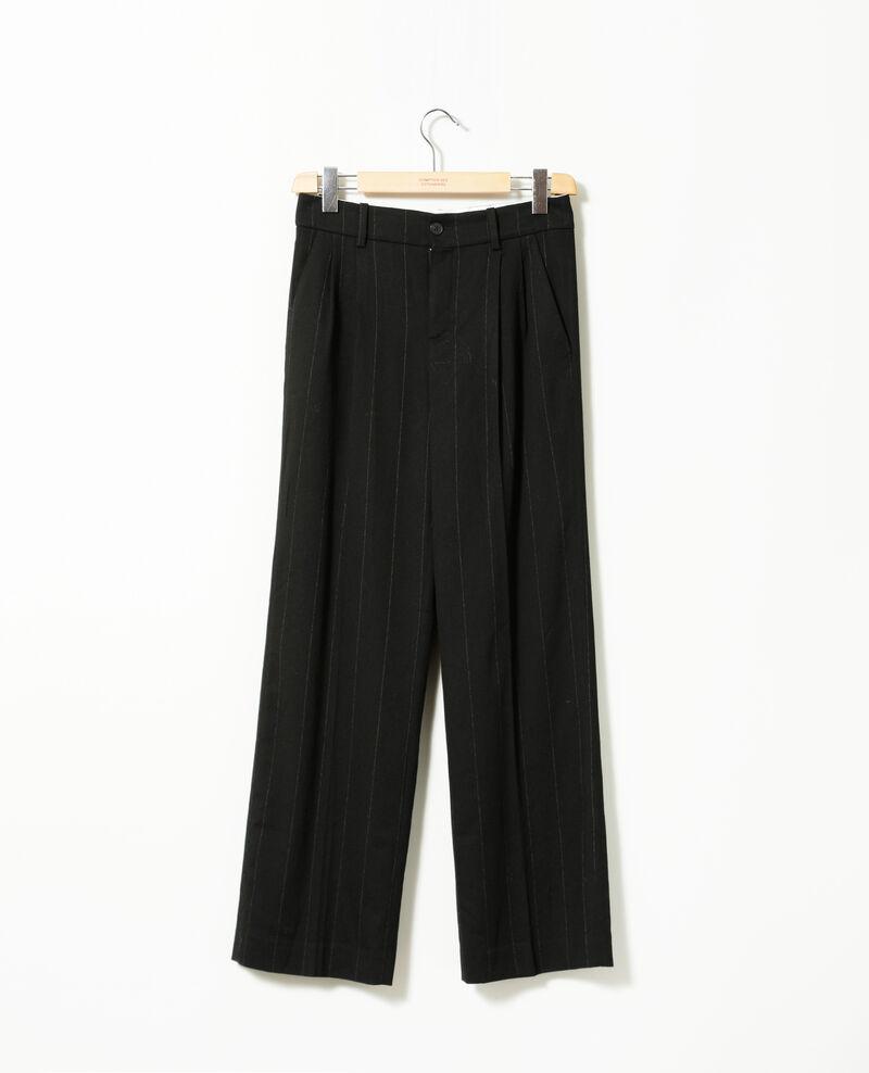 Pantalon coupe ample Noir Gorgonie