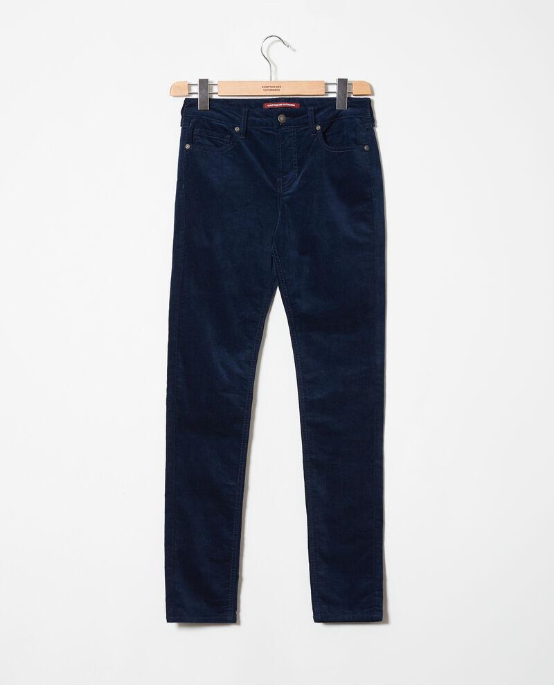 Pantalon en velours lisse Medieval blue Juillemin