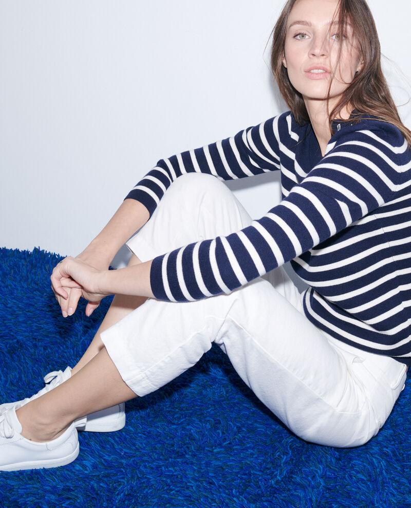 Pantalon 7/8e en coton et lin Gardenia Laiguillon