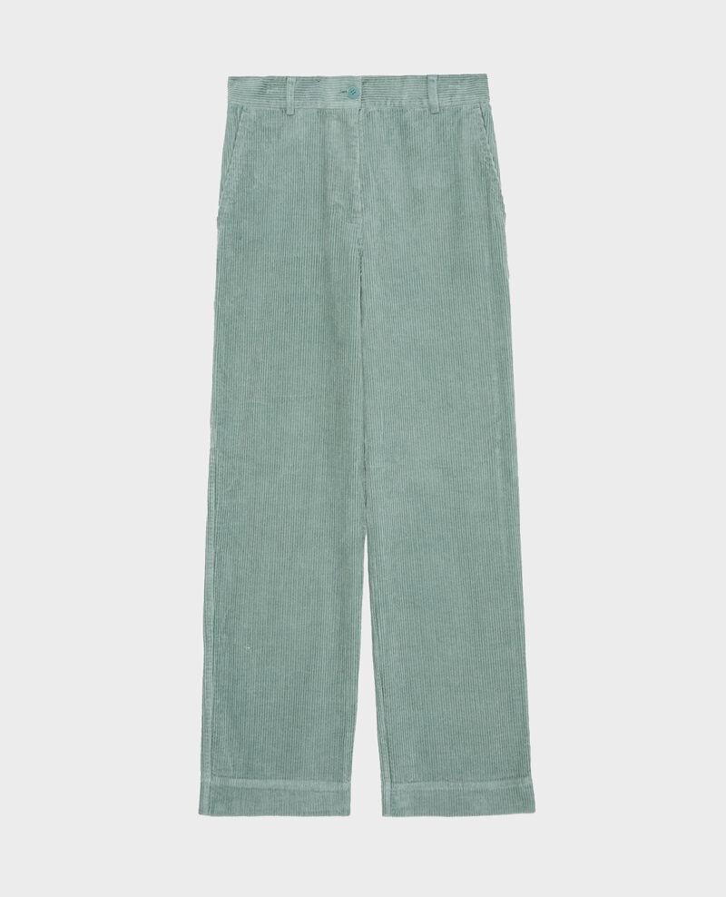 Pantalon large en velours côtelé Chinois green Maora