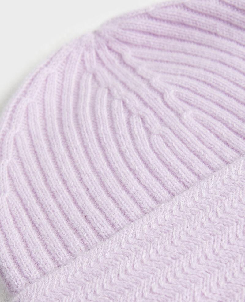 Bonnet en cachemire Pastel lilac Minzac