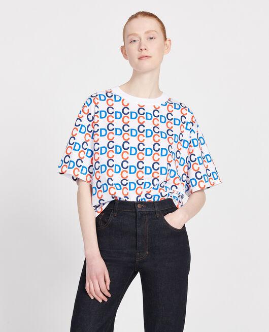 T-shirt imprimé CDC en coton OPTICAL WHITE