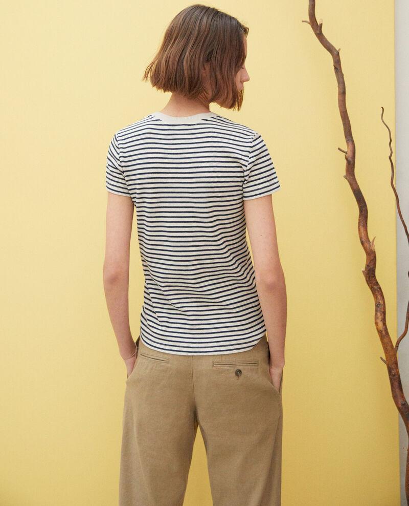 T-shirt marinière Beige/navy Ivea