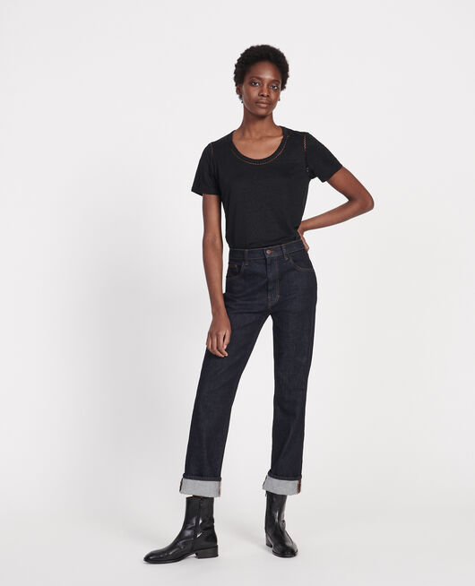 T-shirt en lin BLACK BEAUTY