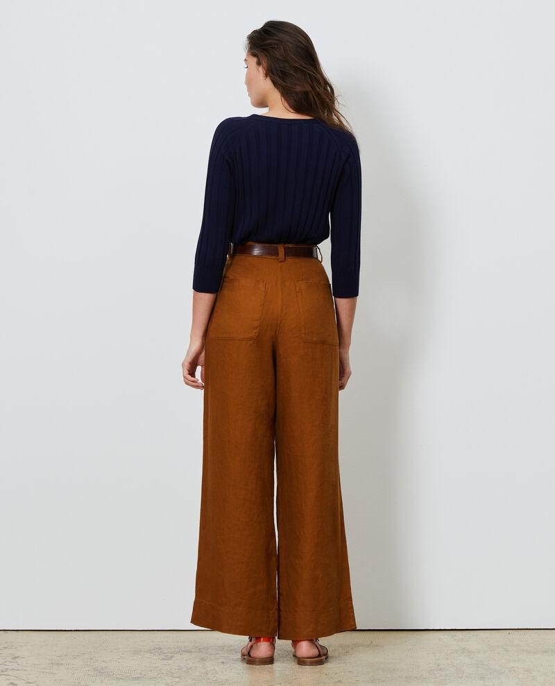 Pantalon YVONNE taille haute en lin Monks robe Lafare