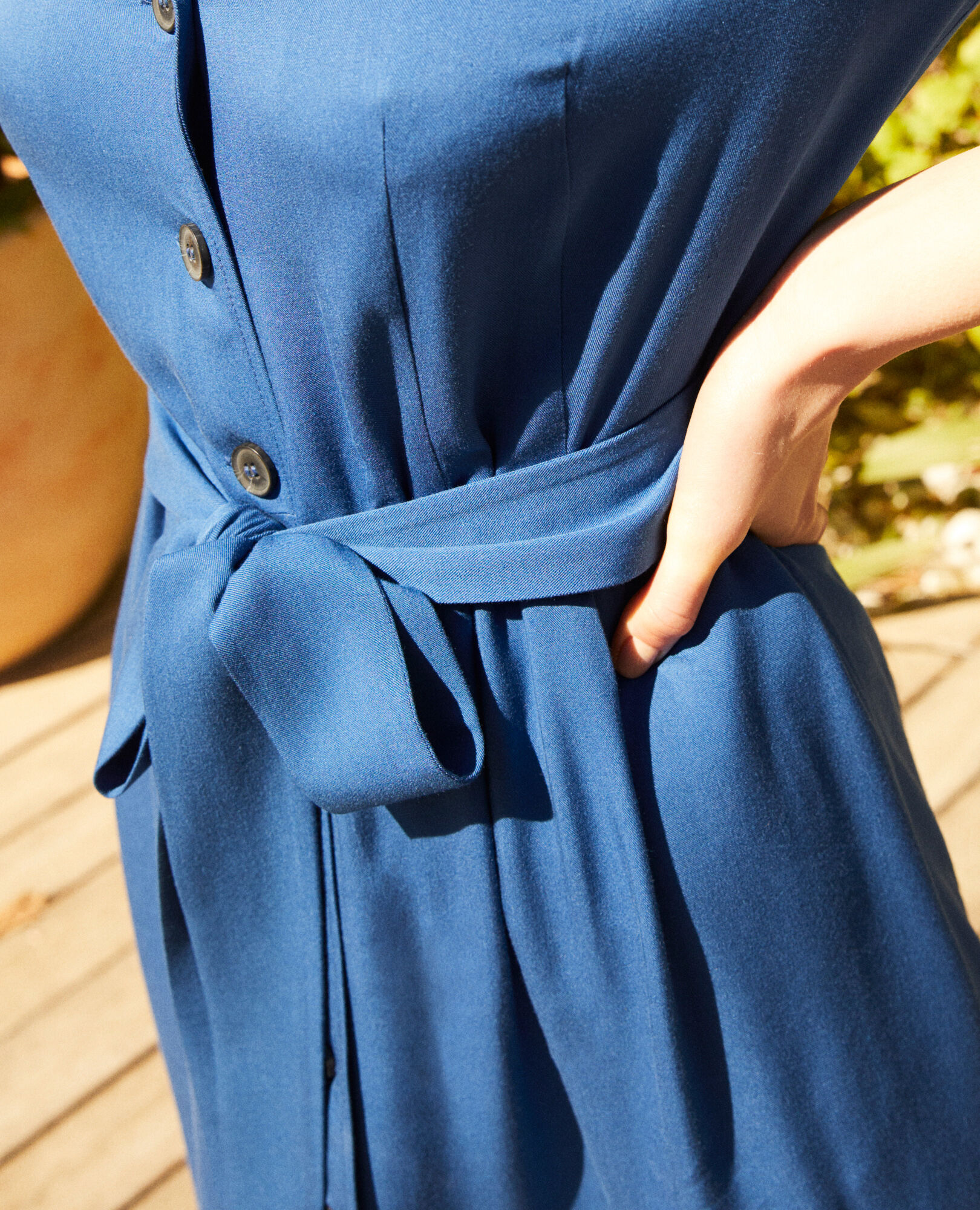 En Chemise Robe Imperial Blue Viscose 80wnPXOk