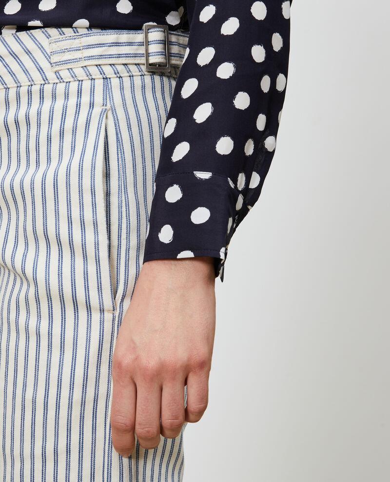 Pantalon en toile denim rayée Indigo stripe Naruk