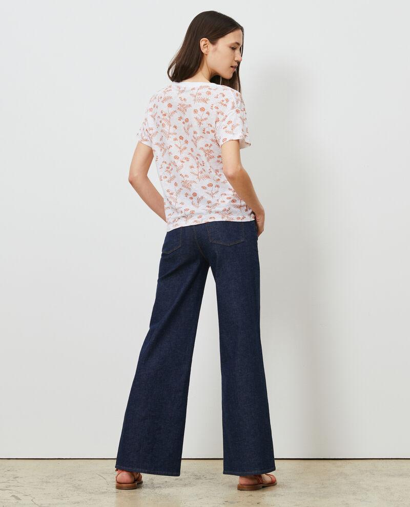 T-shirt col V en lin Coronille optical Nayeli