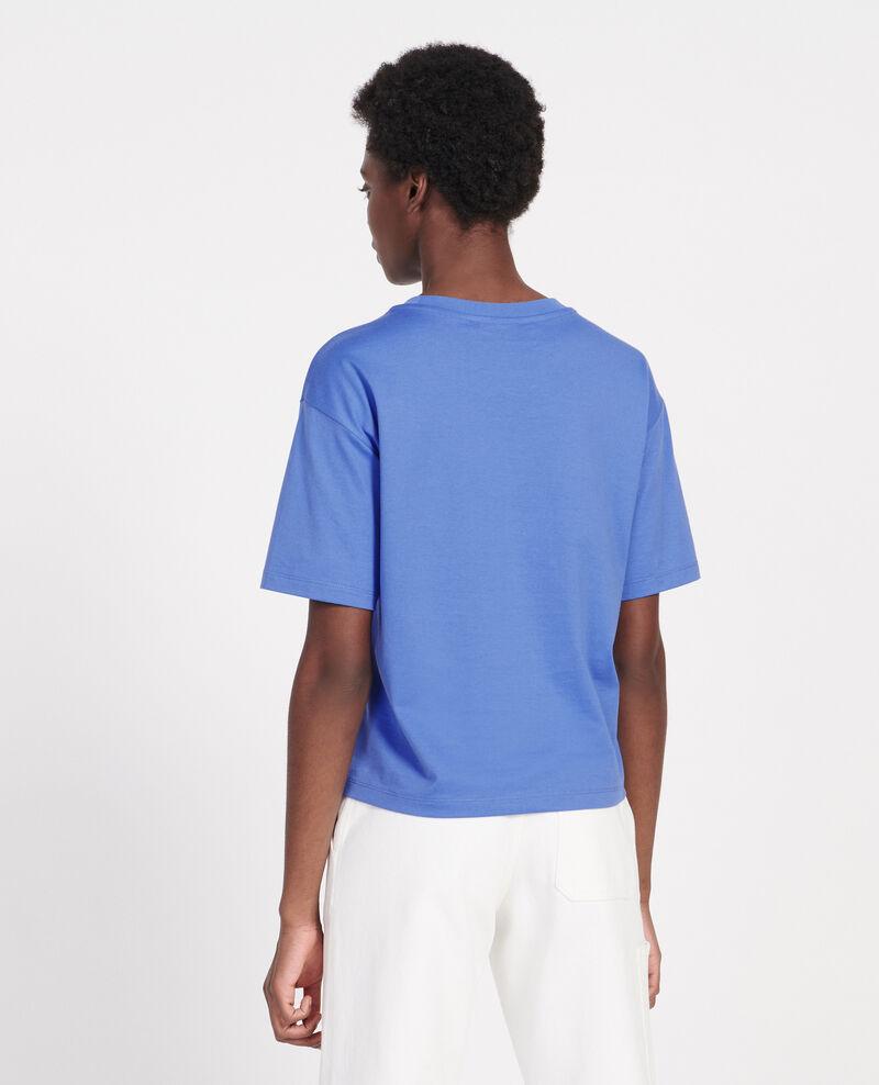 T-Shirt boxy en coton mercerisé Persian jewel Lexana