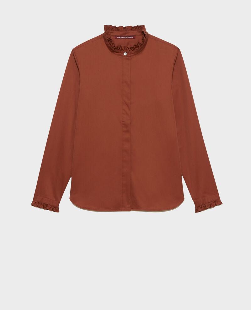 Chemise en coton à col volanté Tortoise shell Marcenat