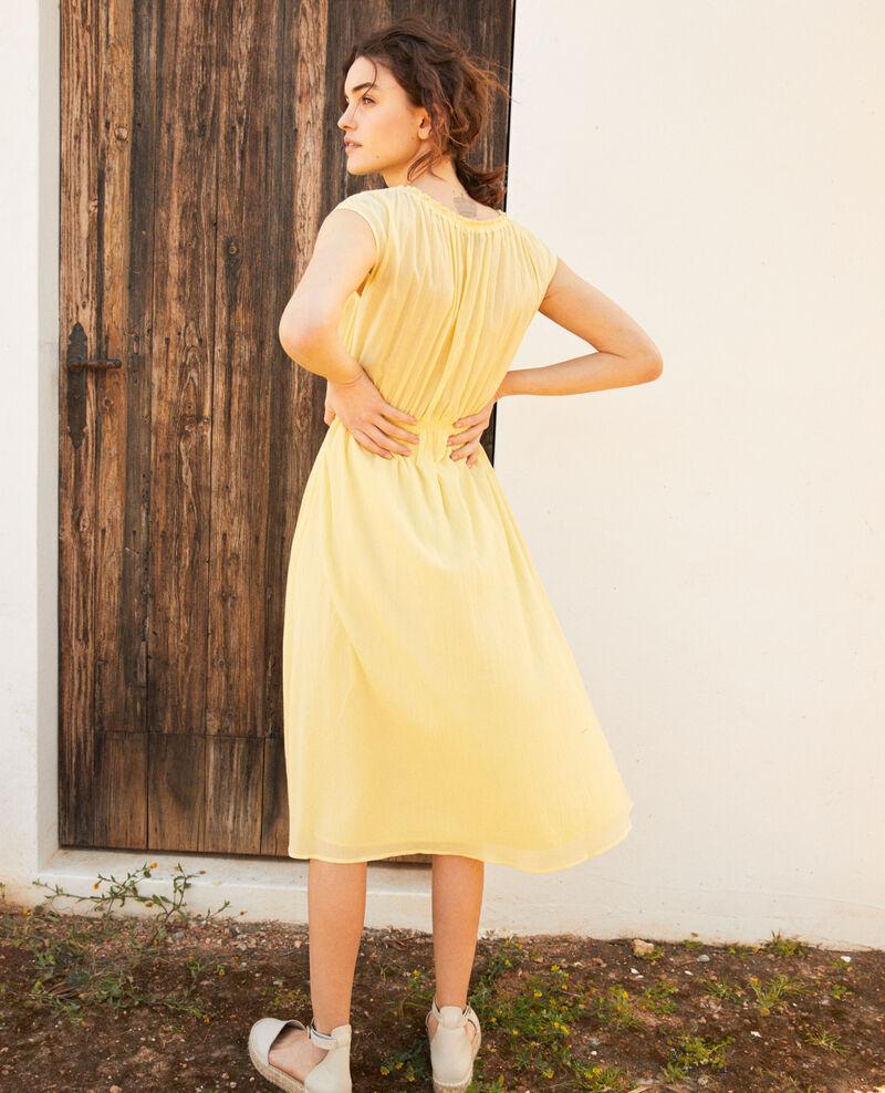 Robe en coton crêpe Spice yellow Idem