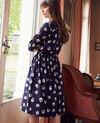 Robe chemise imprimée Tulip evening blue Jaradja
