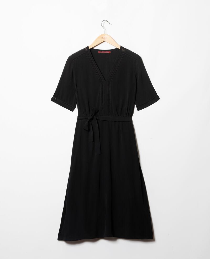 Robe avec inserts de dentelle Noir Grigue