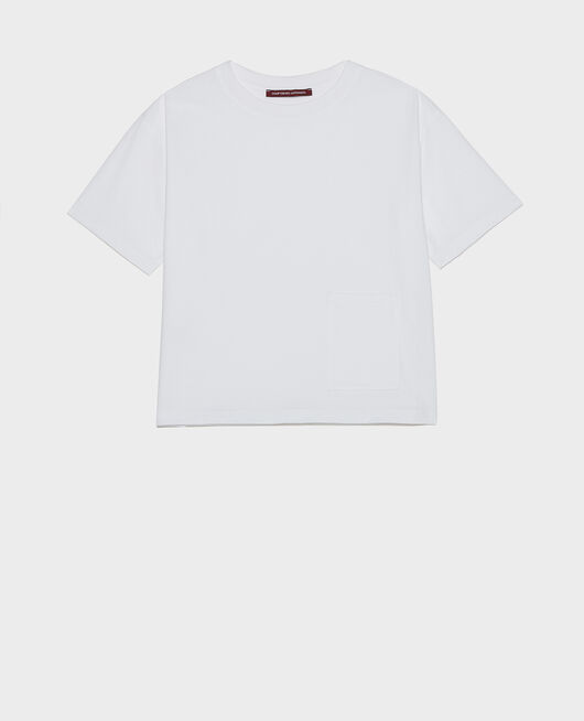 T-Shirt boxy OPTICAL WHITE