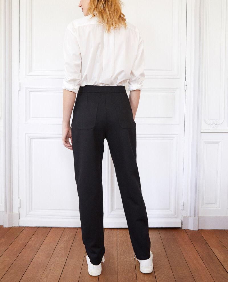 Pantalon coupe carotte Noir Jointi