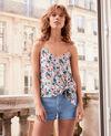 Caraco en soie Summer bloom rosebud Fraction