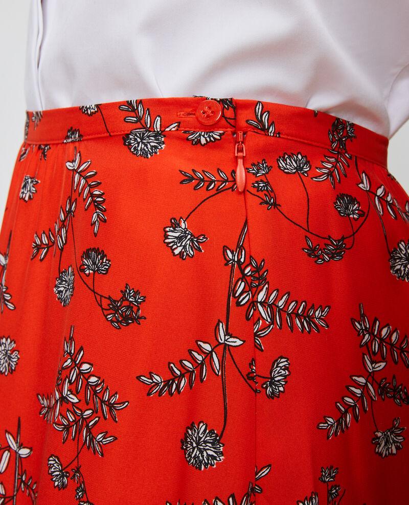 Jupe taille haute en soie Coronille spicy Noimise