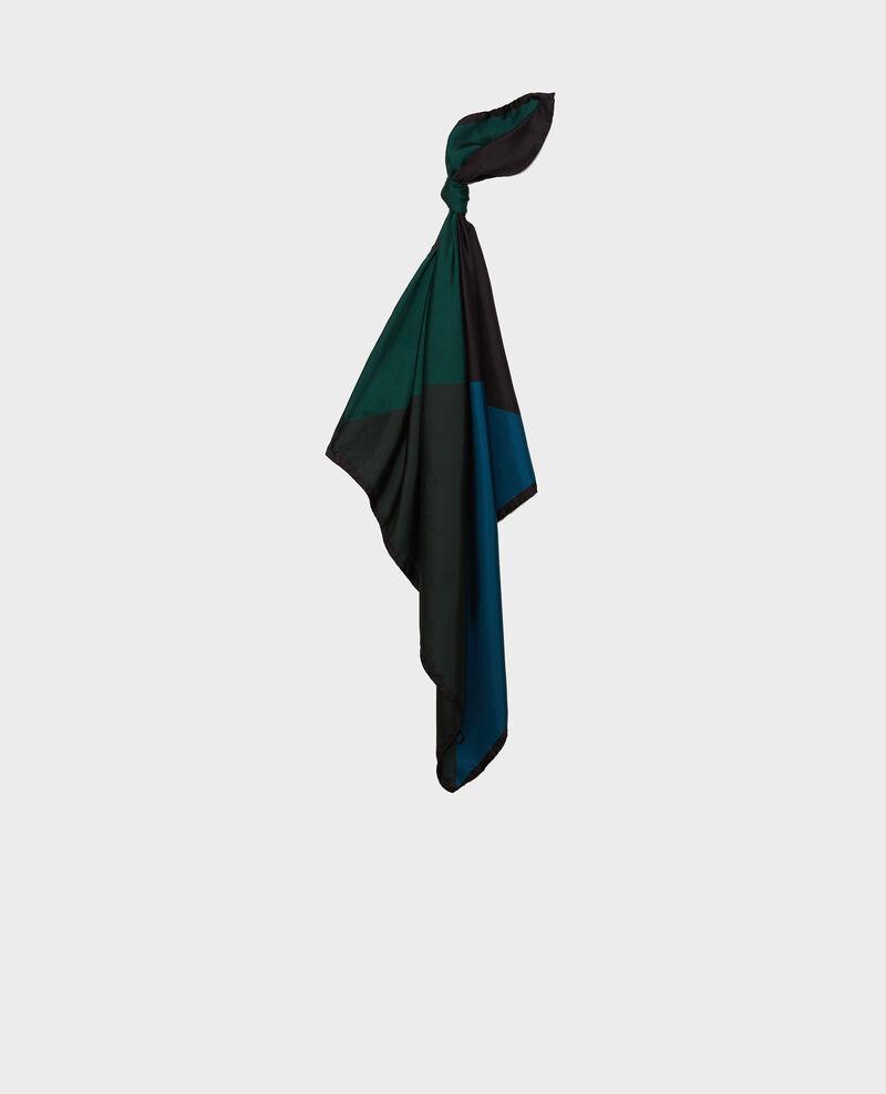Foulard carré de soie multicolore Scarab Massana