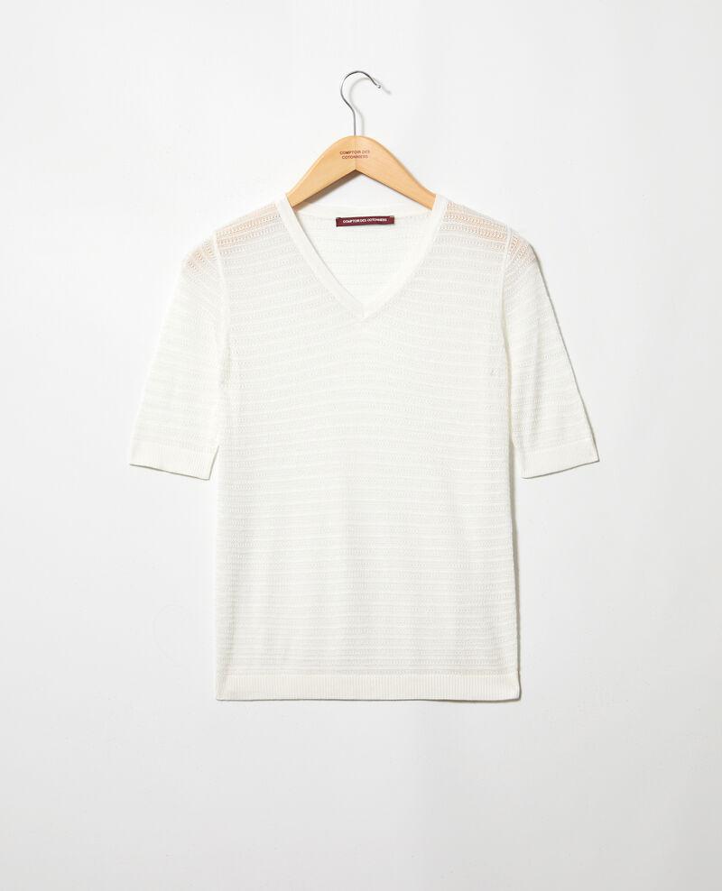 T-shirt en maille en coton et soie Off white Ishirt