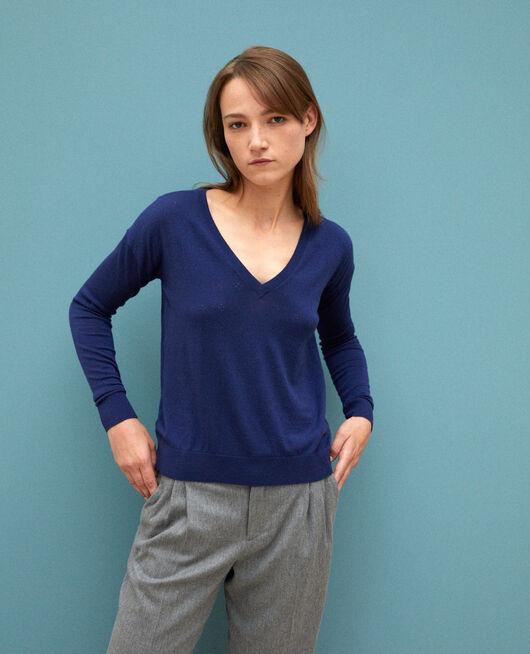 Pull en laine mérinos MEDIEVAL BLUE
