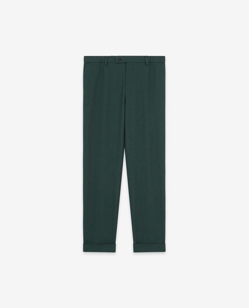 Pantalon relax avec laine Deep green Dlanelle