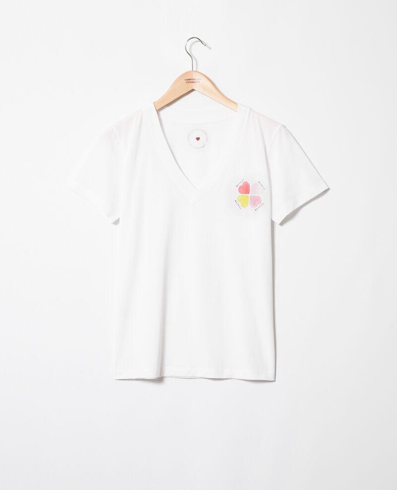 T-shirt avec des cœurs sur la poitrine Off white Itrefle