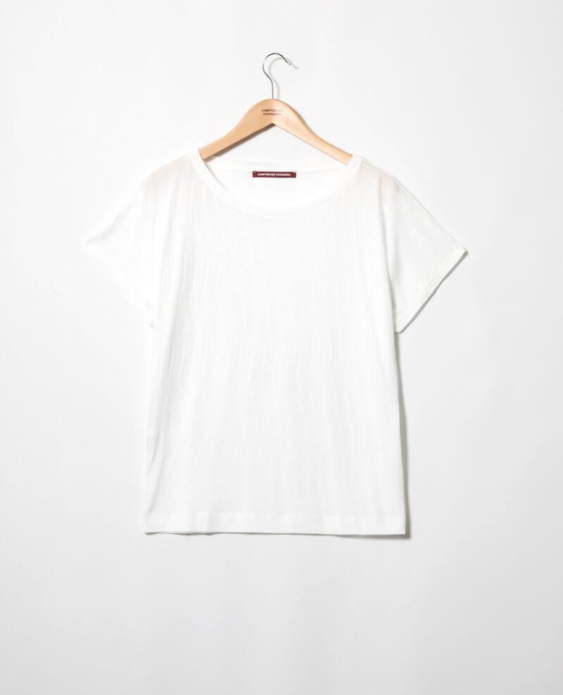 T-shirt au toucher doux Off white Ivoire