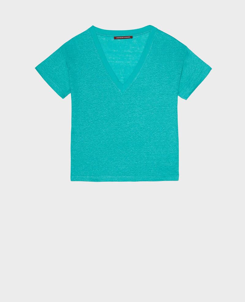 T-shirts en lin Bright aqua Locmelar