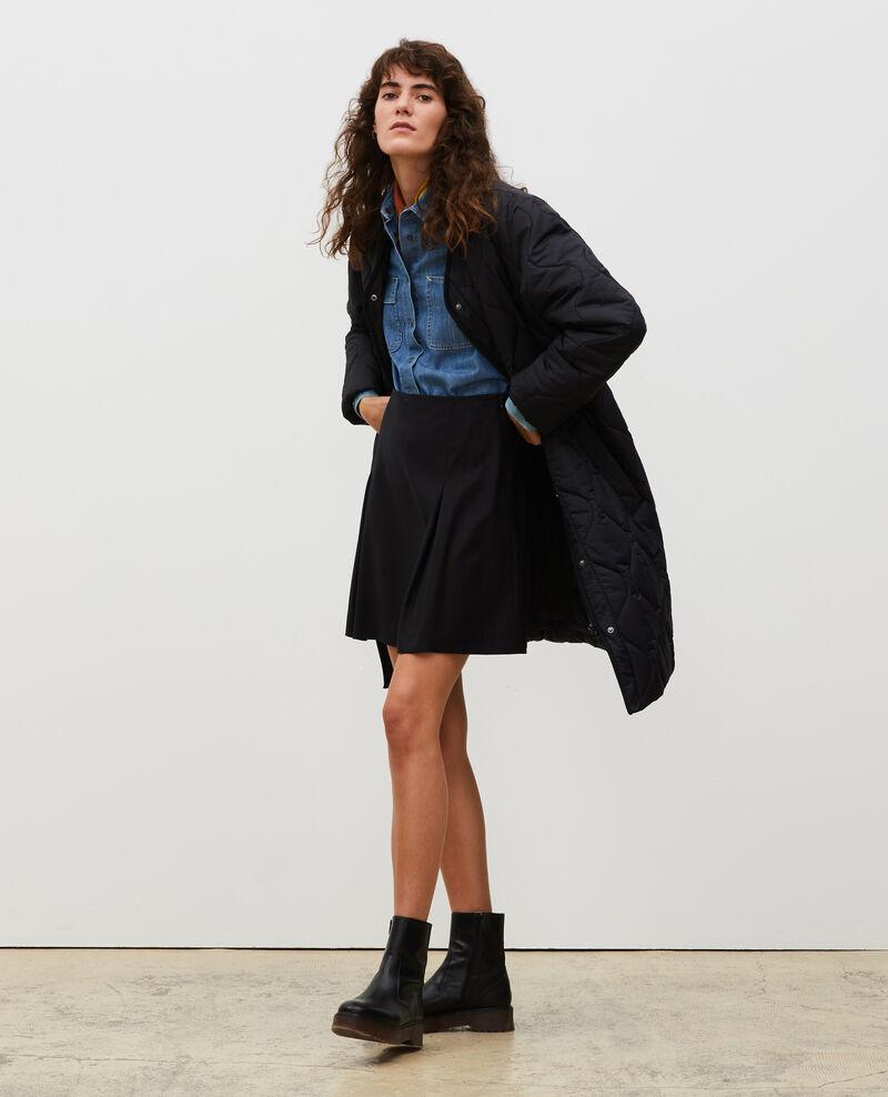 Manteau doudoune col V Black beauty Matoury