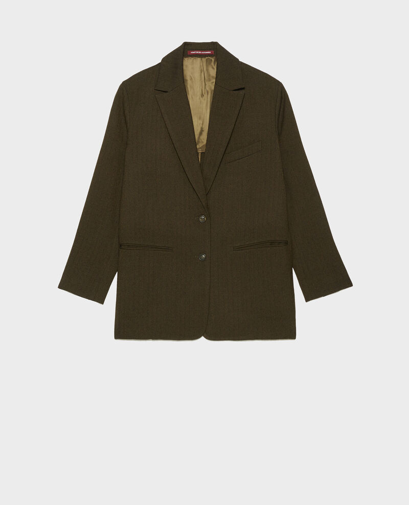 Blazer d'homme en laine 2 boutons Military green Mably