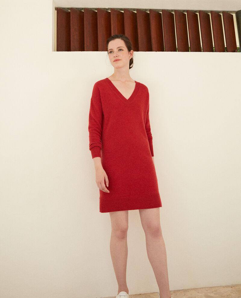 Robe en cachemire réversible Pompeian red Gervina
