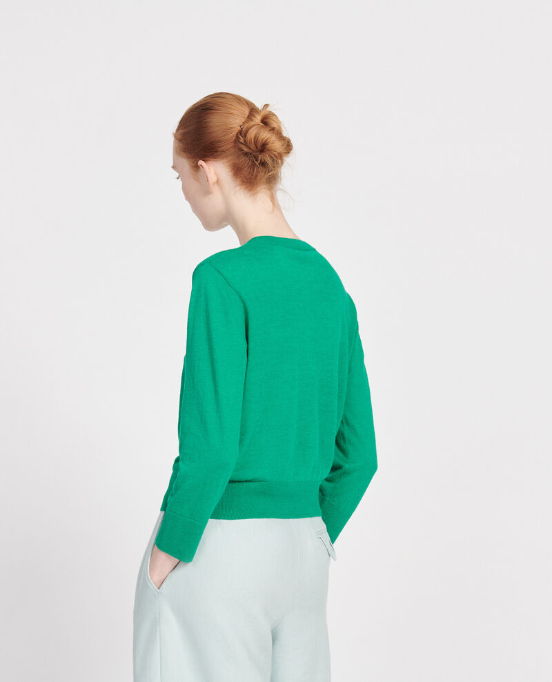 Cardigan en lin Golf green Lagardi