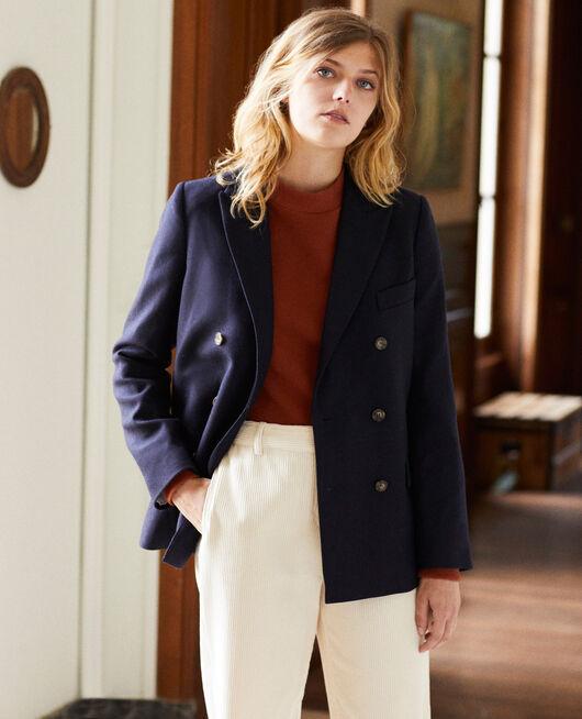 Veste tailoring avec de la laine DARK NAVY