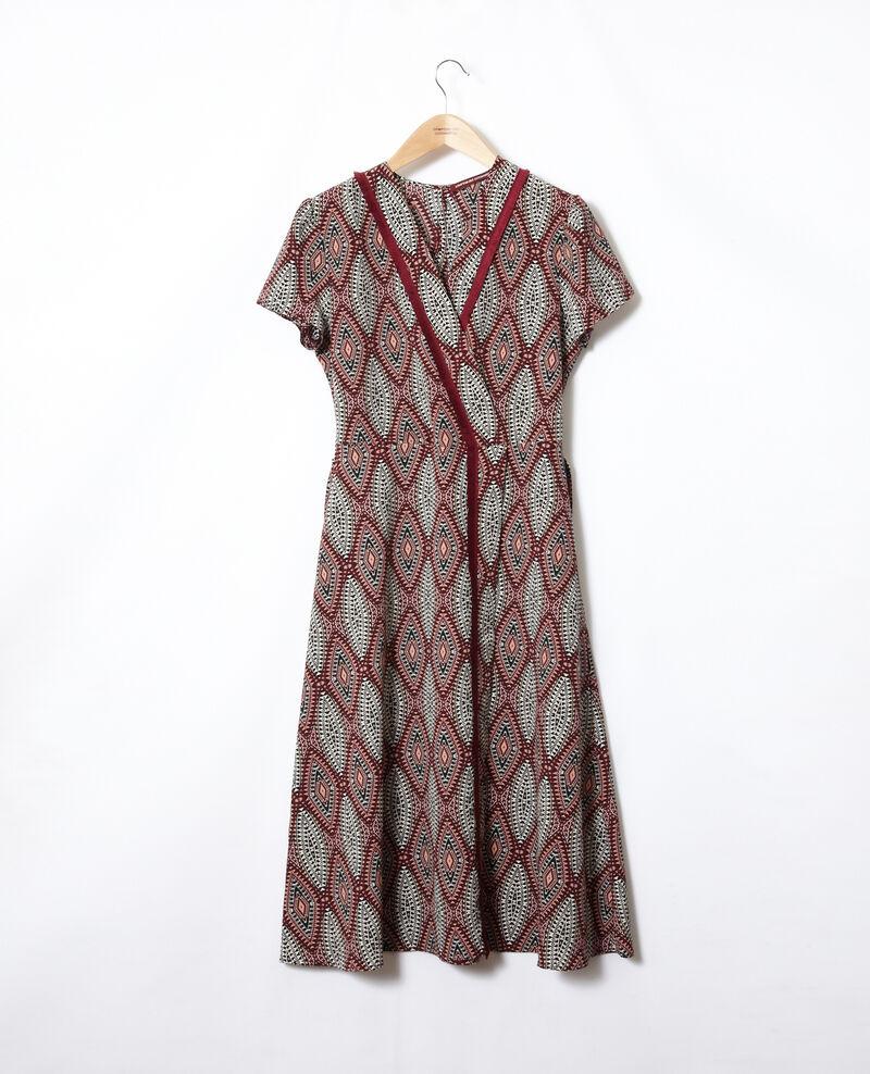 Robe longue imprimée Ikat auburn Fhloe