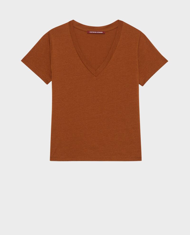 T-shirt fluide col V Monks robe Paberne