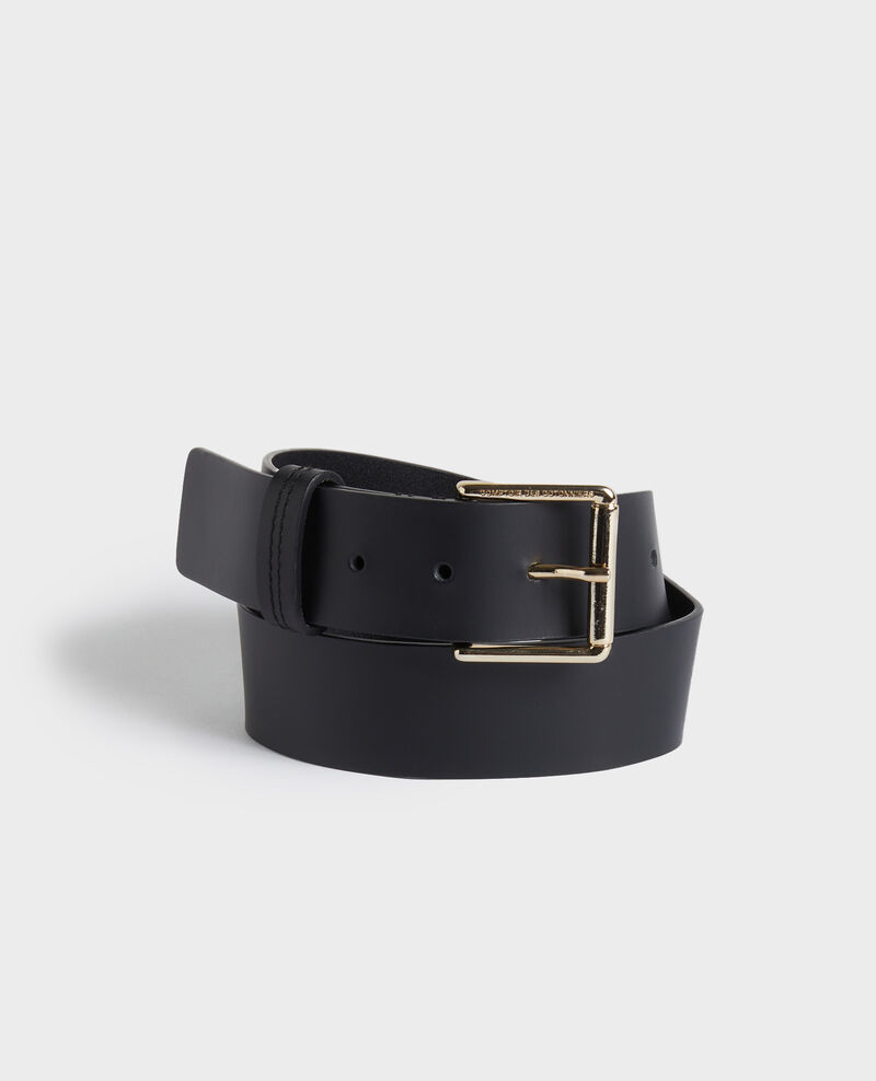 Ceinture large en cuir Black beauty Narcis