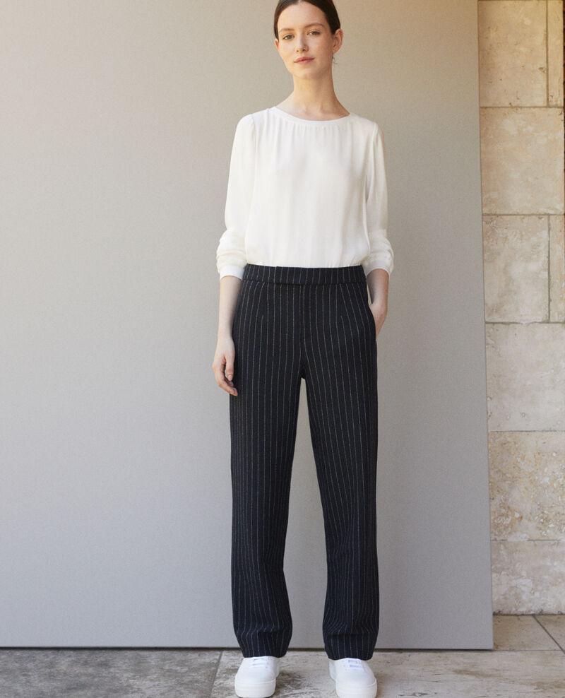 Pantalon épais Navy/off white Gylopa