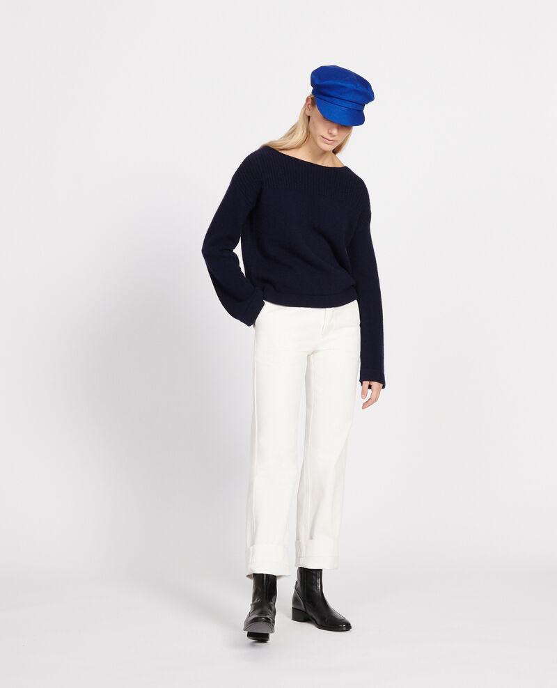 Pull en laine et cachemire Maritime blue Lalane