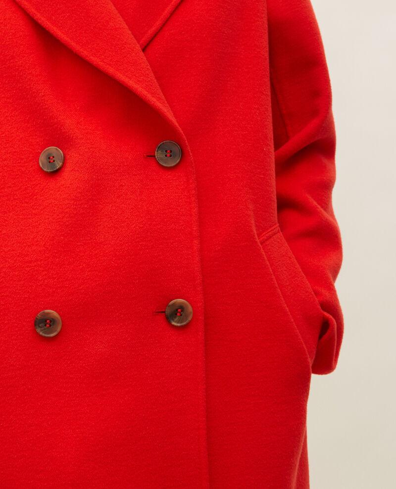 Manteau caban en lainage double face Fiery red Lintot