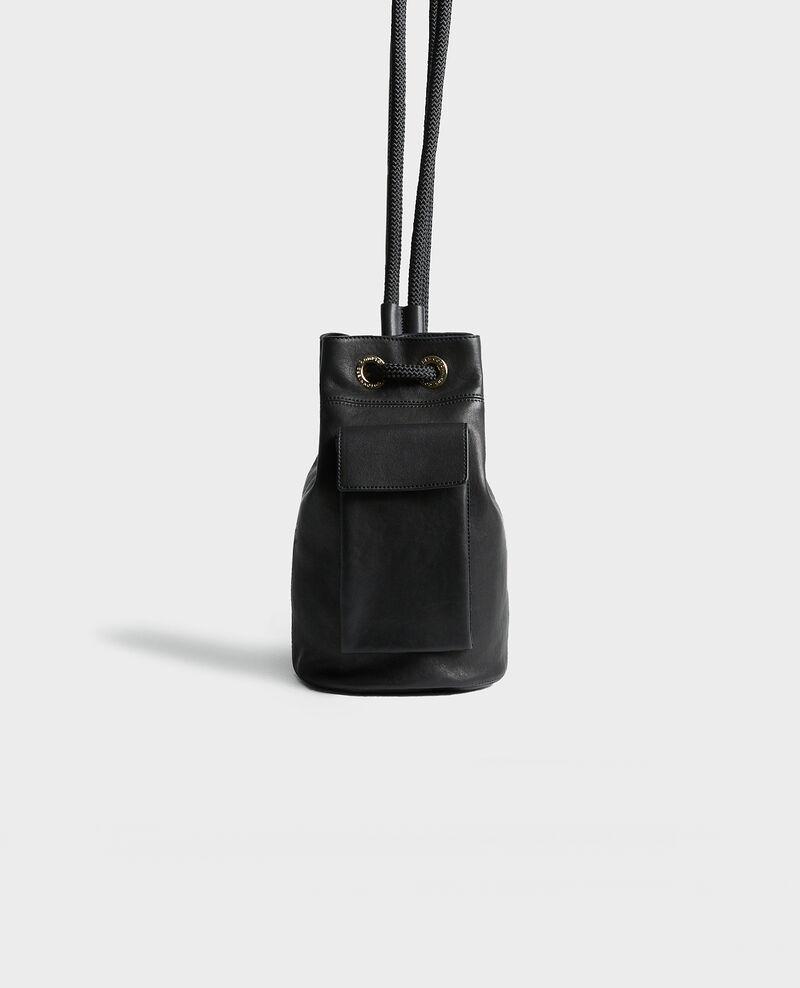 Petit sac bourse en cuir Black beauty Mende