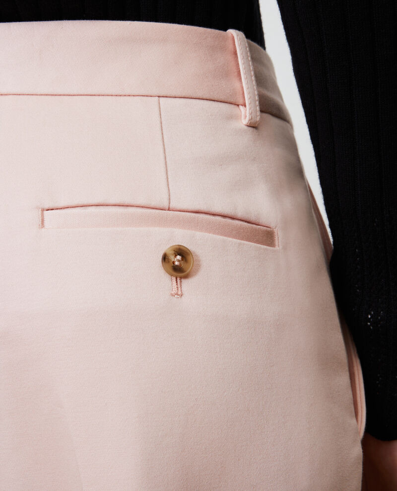 Pantalon chino 7/8e fuselé en coton Seashell pink Nezel