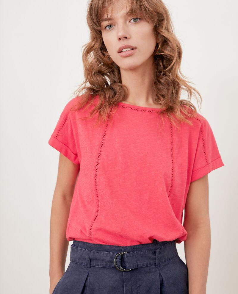 T-shirt avec galons Ultra pink Fenouil